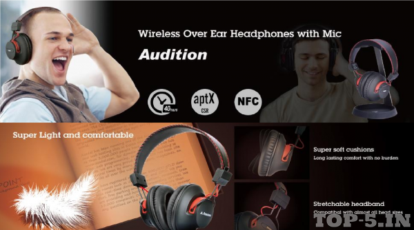Avantree Audition Wireless Bluetooth Headphones