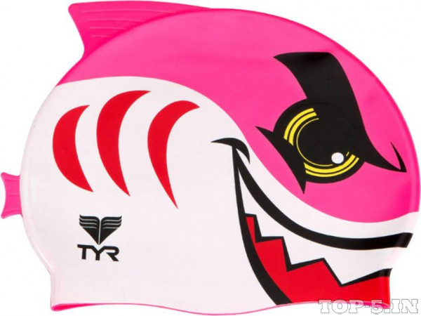 TYR Shark Swim Silicone Swimming Cap