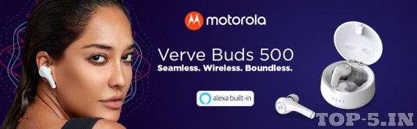 Motorola Verve Buds 500 True Wireless Earbuds with Alexa