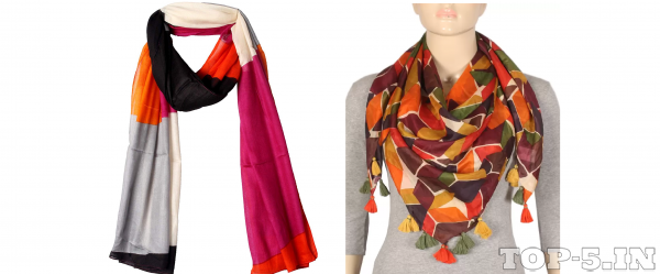 True Fashion Solid Cotton Viscose Blend Women Scarf