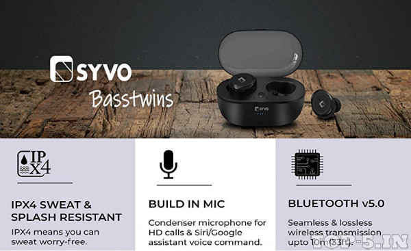 Syvo BassTwins True Wireless Earbuds