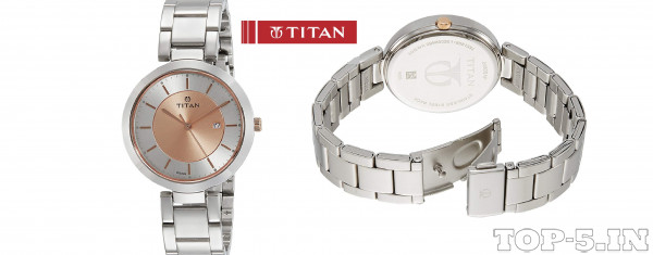 Titan Ladies Neo-Ii Analog Rose Gold Watch