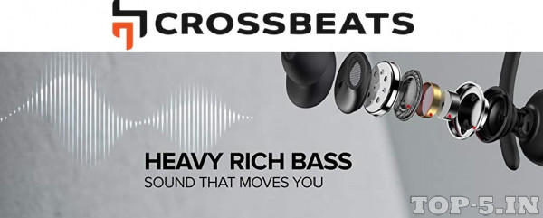 CrossBeats Wave Bluetooth Wireless Earphones