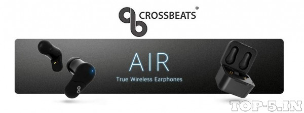 CrossBeats Air Black True Wireless Earbuds