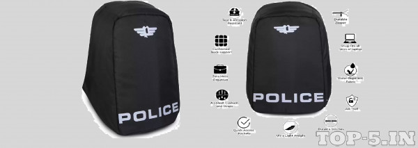 Police Hull Anti Theft Laptop Backpack