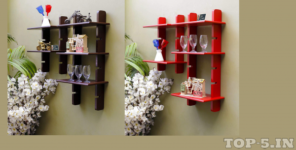 Onlineshoppee Handicraft Design Wall Shelf