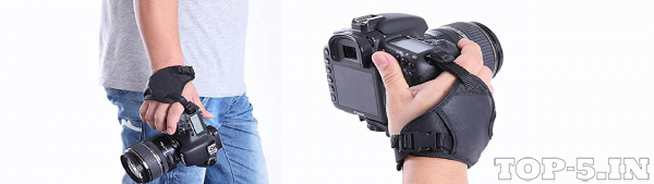 Ozure PU Leather Soft Camera Hand Grip Wrist Strap